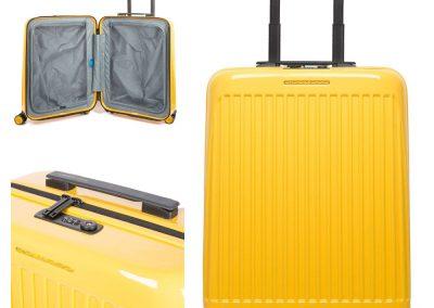 E19 Trolley cabina rigido ultra slim a 4 ruote con lucchetto TSA 40X55X20 LIT.39,50 GIALLO
